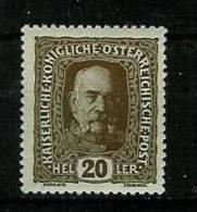 �sterreich 1916:  Kaiserkrone/Kaiser/Wappen ,  Mi.-Nr. 191    **