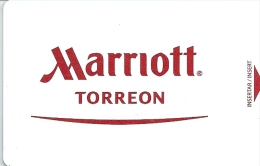 HOTEL MARRIOTT TORREON MEXICO , DUOMO CAFE IN REVERSE  llave clef key keycard hotelkarte