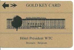 HOTEL PRESIDENT BRUSSELS BELGIUM  llave clef key keycard hotelkarte