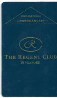 HOTEL REGENT CLUB SINGAPORE   llave clef key keycard hotelkarte