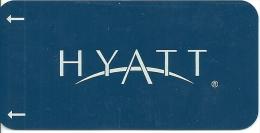 HOTEL HYATT   llave clef key keycard hotelkarte