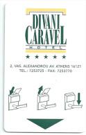 HOTEL DIVANI CARAVEL ATHENS  llave clef key keycard hotelkarte