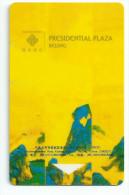 HOTEL PRESIDENTIAL PLAZA BEIJING  llave clef key keycard hotelkarte