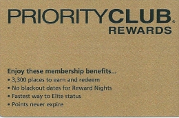 HOTEL PRIORITY CLUB REWARDS llave clef key keycard hotelkarte