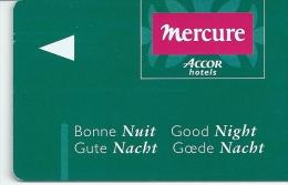 HOTEL MERCURE llave clef key keycard hotelkarte