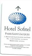 HOTEL SOFITEL PARIS SAINT JACQUES, Llave Clef Key Keycard Hotelkarte - Etiquetas De Hotel