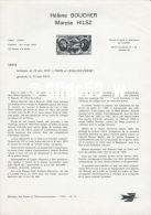 Document Philatélique Officiel Du Ministère Des Postes Et Télécommunications - Hélène BOUCHER - Maryse HILSZ - Documents Of Postal Services