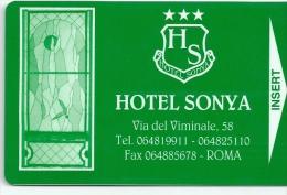 HOTEL SONYA ROMA ITALY, llave clef key keycard hotelkarte