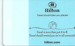 HOTEL HILTON, llave clef key keycard hotelkarte