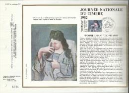 N° : 627 DU CATALOGUE CEF . JOURNEE NATIONALE DU TIMBRE . 27 MARS 1982 . PARIS . - FDC