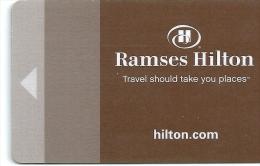 HOTEL RAMSES HILTON EGYPT  llave clef key keycard hotelkarte