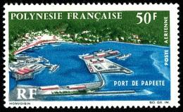 POLYNESIE 1966 - Yv. PA 20 ** SUP  Cote= 21,00 EUR - Port De Papeete ..Réf.POL22240 - Poste Aérienne