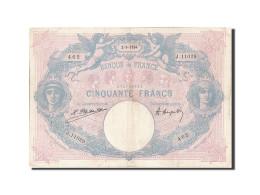 [#206498] 50 Francs Type Bleu Et Rose, 2 Septembre 1924, Fayette 14.37 - 1871-1952 Anciens Francs Circulés Au XXème