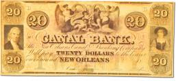 [#44760] Etats-Unis, Obsolètes, Louisiana, Canal Bank, 20 Dollars 18__ - United States Of America