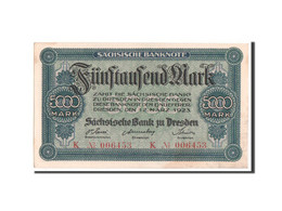 Allemagne, Banque De Saxe, 5000 Mark 12.3.1923, Pick S957 - Bankbiljetten