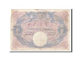 [#158611] 50 Francs Type Bleu Et Rose, 13 Novembre 1907, Fayette 14.20 - 1871-1952 Anciens Francs Circulés Au XXème