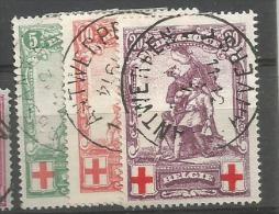 126/28  Obl  Faux Et Fausses Obl. - 1914-1915 Red Cross
