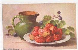 C. Klein, Fruit, Strawberries No.1249 Postcard, B265 - Ilustradores & Fotógrafos