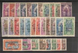 Moyen- Congo_ Surch.Oubangui - Chari - Afrique Equat. Francaise  _ 1924