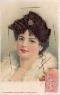 Portrait De Femme, Cheveux En Ajoutis - A Systèmes