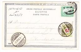 Ägypten 3.4.1905 Cairo AK Nach Winterthur Mit Strafporto 10Rp. - 1866-1914 Khédivat D'Égypte