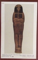 EGITTO - EGYPT OLD  POSTCARD.  GILDED COVER OF THE INNER  OF HENT - MEHIT - BRITISH MUSEUM - Storia