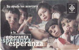 ARGENTINA(chip) - Esperanza, Campagna Caritas 1, Telefonica Telecard(F 12), Chip GEM1, 06/96, Used - Argentinië