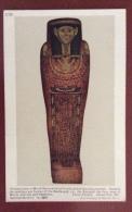 EGITTO - EGYPT OLD  POSTCARD - INNER WOODEN COFFIN OF HERU NETCH - BRITISH MUSEUM - Storia