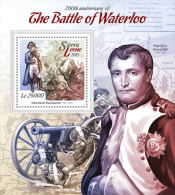 SIERRA LEONE 2015 - Waterloo, Napoleon S/S. Official Issue. - Napoleon