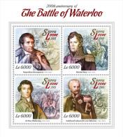 SIERRA LEONE 2015 - Waterloo, Napoleon. Official Issue. - Napoleon