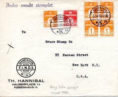 DANEMARK. N°48-9 De 1906 Sur Enveloppe Ayant Circulé. - 1905-12 (Frederik VIII)