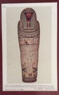 EGITTO - EGYPT OLD  POSTCARD - COFFIN OFEN SENSEN HERU  - BRITISH MUSEUM - Storia