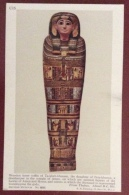 EGITTO - EGYPT OLD  POSTCARD - WOODEN INNER COFFIN OF TA KHEB KHENEM - BRITISH MUSEUM - Storia