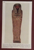 EGITTO - EGYPT OLD  POSTCARD - WOODEN INNER COFFIN OF  BASA EN MUT - BRITISH MUSEUM - Storia