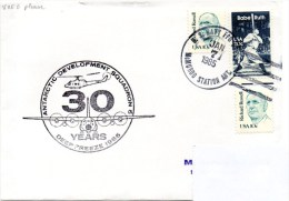 Polaire. Pli Deep Freeze 1985. Cachet à Date Mc. Murdo Station Du 07/01/1985. Cachet Illustré. - Polar Flights