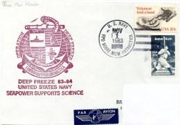 Polaire. Pli Deep Freeze 1983-84. Cachet à Date Mc. Murdo Station Du 01/11/1983. Cachet Illustré. - Navires & Brise-glace