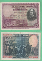 Spagna 50 Pesetas 1928 - [ 3] 1936-1975: Regime Van Franco