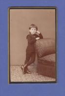 4610 / CDV-Photo Ed. Wettstein, Verviers - Hübscher Kleiner Knabe In Pose Um 1885 - Anonyme Personen