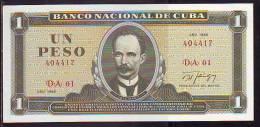 Cuba 1 Peso 1998 Pick 102d Billete Plancha