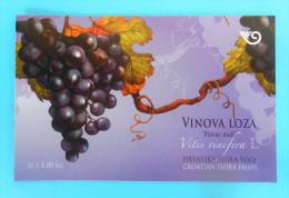 WINE & GRAPEVINE Croatian Flora Fruits Vigne ( Croatia Booklet MNH**  ) Vin Vino Wein Vinho Wijn Grape Raisin Grapes Uva - Wines & Alcohols