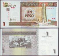 Cuba 1 Peso Convertible 2004 Pick Fx46 Billete Plancha