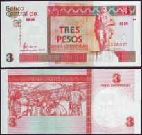 Cuba 3 Pesos Convertibles 2006 Pick Fx47 Billete Plancha
