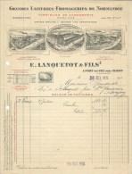 Ancienne Facture Laiterie  Fromagerie De Normandie  à Entête E Lanquetot & Fils  Pont Du Vey Prés Isigny  28/02/1934 - Invoices