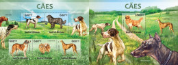 GB13215ab Guinea-BISSAU 2013 Dogs Chiens Hunde MNH Stamps SET ** - Guinea-Bissau