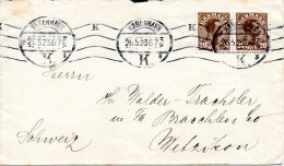 DANEMARK. N°137 Sur Enveloppe Ayant Circulé En 1923. Christian X. - Briefe U. Dokumente