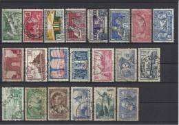 FRANCE -  LOT DE 21 TIMBRES OBLITERES - 1924/1936 - COTE YT: 35.50€ - France