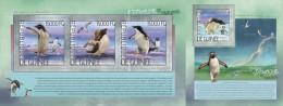 GU14207ab Guinea (Guinee) 2014 Penguins MNH Imperforated Stamps SET ** - Guinée (1958-...)