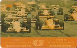 TARJETA DE MACAO DE GRAND PRIX 1990 DE CTM $50 (2MACE) COCHE-CAR-FORMULA 1 - Macau