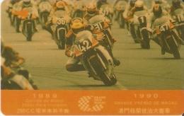 TARJETA DE MACAO DE GRAND PRIX 1990 DE CTM $50 (2MACD) MOTO-MOTORBIKE - Macau