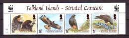 Falkland Islands 2006 Y WWF Fauna Animals Birds Striated Caracara Mi No 976-79 MNH - W.W.F.